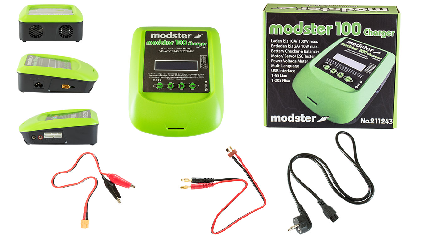 Ladegerät ACDC MODSTER 100 Charger Lipo 1 6S 10A 100W