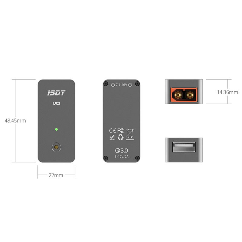 Ladegerät DC iSDT USB SMART CHARGER UC1 18W 2A 5 12V