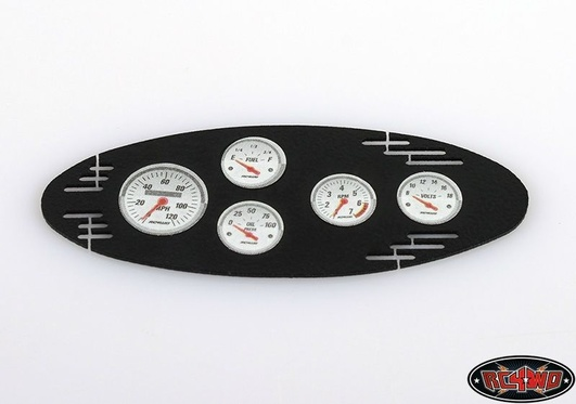 1/8 Black Instrument Panel with Instrument Decal Sheet (Styl