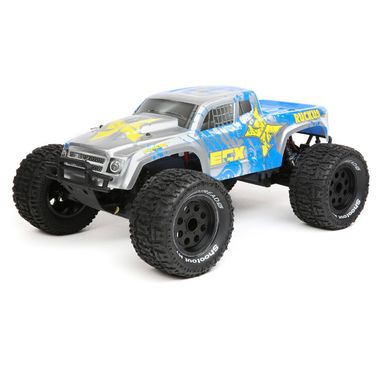 1:10 Ruckus 2WD Monster Truck Brushed mit 2S LiPo RTR, Silber/Blau