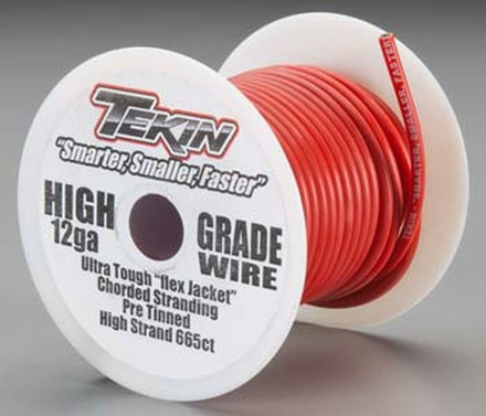 12awg Bulk Silicon Power Wire 50 Red