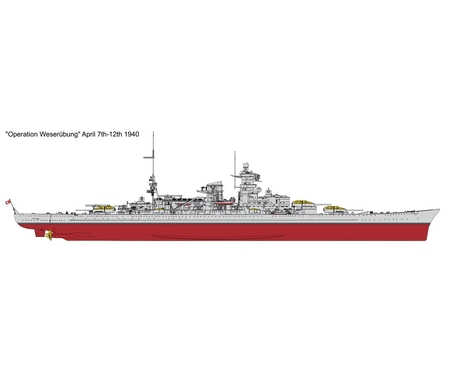 1:350 German Battleship Scharnhorst 1941
