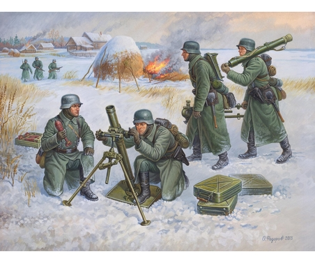1:72 Deut. 80-mm Mörser m.Crew (Winter)