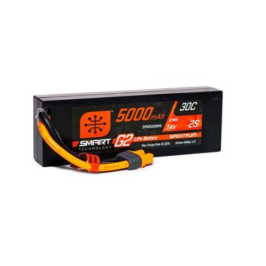 5000mAh 2S 7.4V Smart G2 LiPo 30C Hard Case IC3