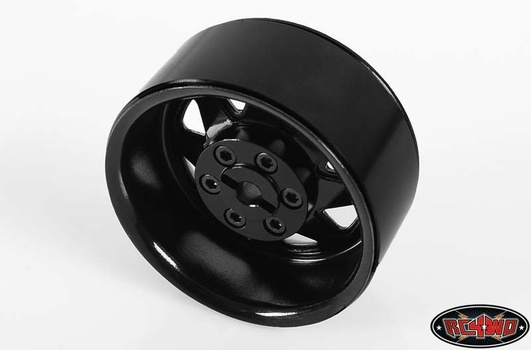6 Lug Wagon 1.9 Single Steel Stamped Beadlock Wheel (Black)