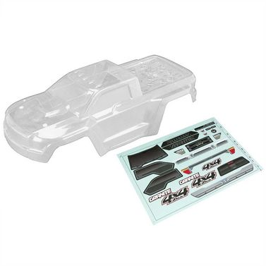 AR402261 Body Clear w/Decals GRANITE 4x4