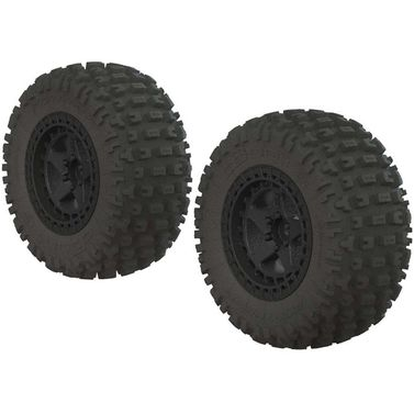 AR550042 Fortress SC Tire Set Glued Black (2)