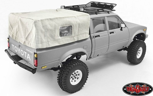 Bed Soft Top w/Cage for RC4WD Mojave II Four Door (White)