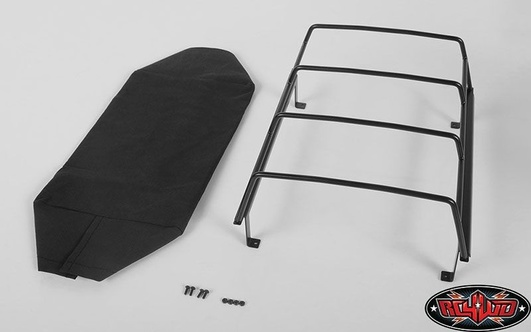 Bed Soft Top w/Cage for RC4WD Mojave II Two Door (Black)