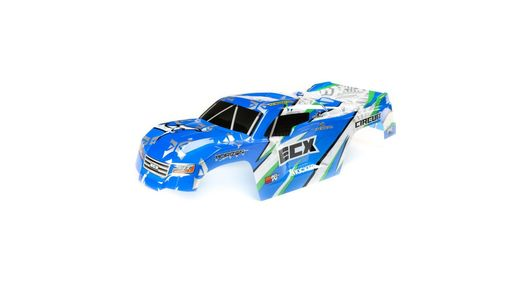 Body, Blue/White: 1:10 2wd Circuit
