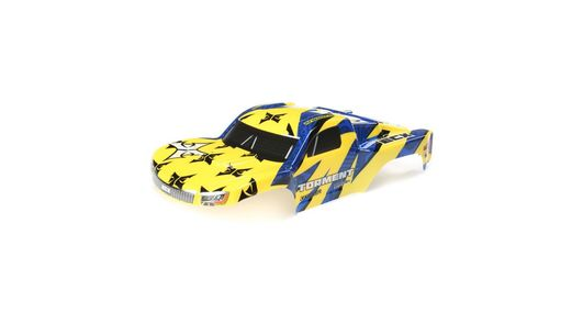Body, Yellow/Blue: 1:10 2wd Torment
