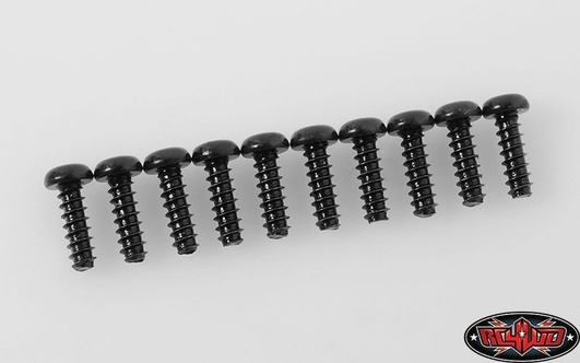 Button Head Self TapStiftg Screws M2.5 X 8mm (Black)