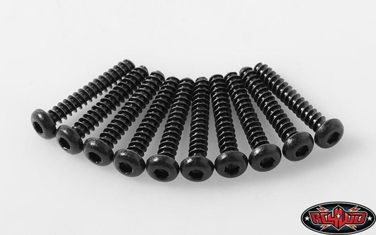 Button Head Self TapStiftg Screws M3 X 18mm (Black)