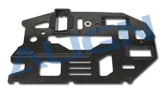 Chassis Seitenteil Carbon links 2 mm T-Rex 600E Pro