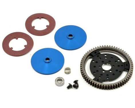 D-Disc Slipper Kit: 65T Stahl spur, pads, plates, bearing.