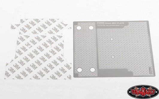 Diamond Plate Rear Bed for RC4WD 1985 Toyota 4Runner RC4WD Hard Body Complete Set