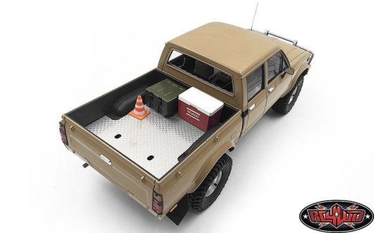 Diamond Plate Rear Bed for RC4WD Trail Finder 2 LWB RTR RC4WD w/Mojave II Four Door Body Set