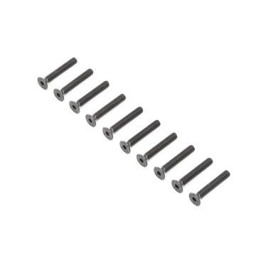 Flat Head Screws, Stl, BO, M4 x 25mm (10)