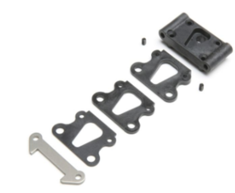 Front Pivot, w/Brace & Kick Shims: All 22