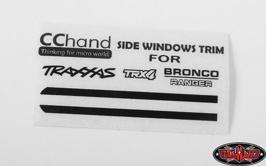 Front Side Window Trim for Traxxas TRX-4 79 Bronco Ranger