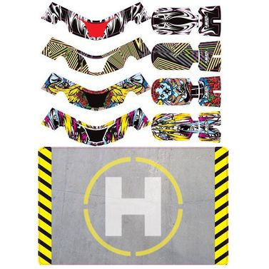 Hobbyzone Faze upgrade: Sticker Set 2 (4 Sticker) + Helipad (Landeplatz)