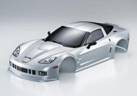 Karosserie Corvette GT2 190mm Silber RTU all-in