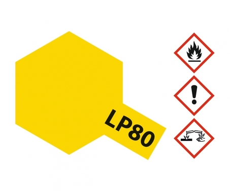 LP-80 Gelb matt 10ml Spray
