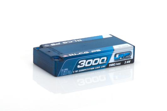 LRP 3000 - Shorty LCG P5 - 110C/55C - 7.4V LiPo - 1/10 Competition Car Line Hardcase