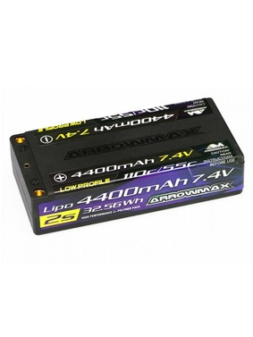 LiPo Pack 4400mAh 2S Shorty Low Profile - 7.4V 55C Continuos 1