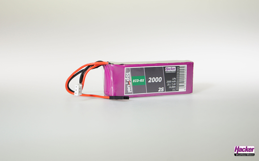 LiPo Pack TF ECO-RX 2000mAh 2S Straight
