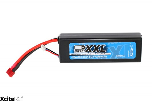 LiPo Pack XciteRC Car Pack 4000 mAh 7,4 V 40C Deans Stecker