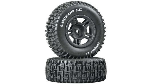 Lockup SC Tire C2 Mounted Black Rear Slash (2)