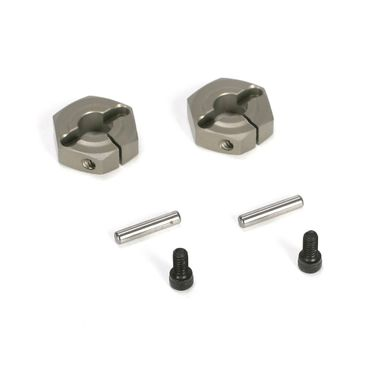 Losi Aluminum Clamping Wheel Hex (2): TEN-SCTE