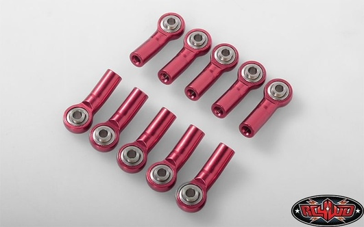 M3 Bent Medium Aluminum Rod Ends (Red) (10)