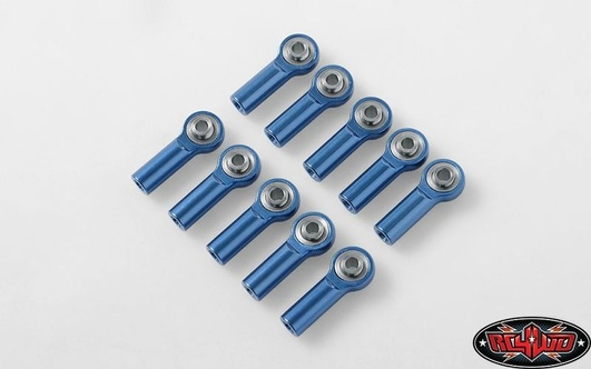M3 Medium Straight Aluminum Rod Ends (Blue) (10)