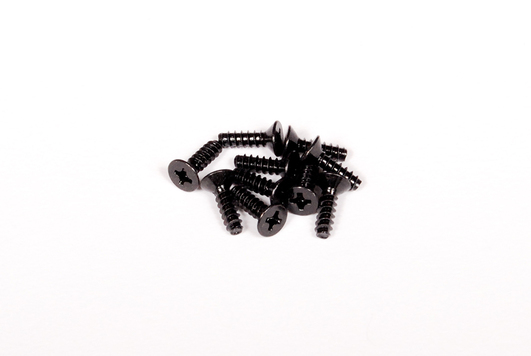 M3x10mm Tapping Flat Head (Black) (10 Stk)