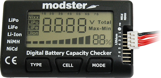 MODSTER LiPo Checker - Digitaler Akku / Batterie Tester