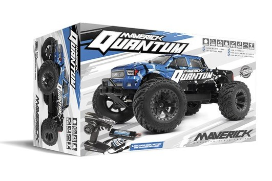 Maverick Quantum MT Elektro Brushed Monster Truck 4WD 1:10 RTR blau