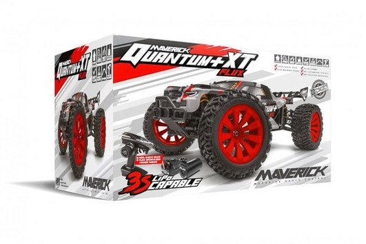 Maverick Quantum Plus XT Flux Elektro Brushless Monster Truck 4WD 1:10 RTR rot