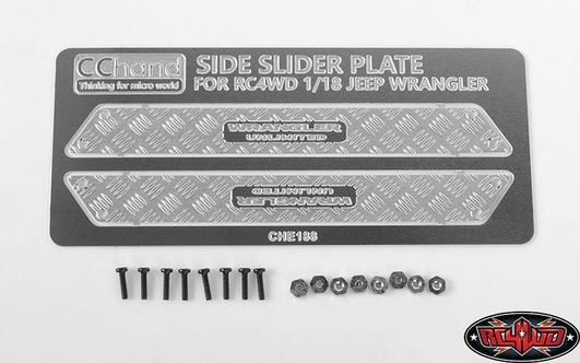 Metal Side Diamond Plates for 1/18 Gelande II RTR