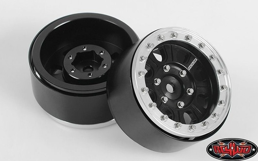 Raceline Monster 1.7 Beadlock Wheels (Black/Silver)