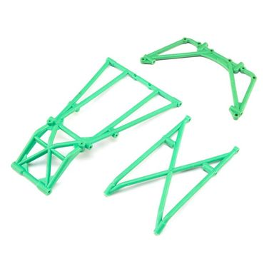 Rear Cage and Hoop Bars Green: LMT