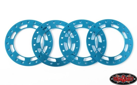 Replacement Beadlock Rings for TRO 1.7 Wheels (Blue)