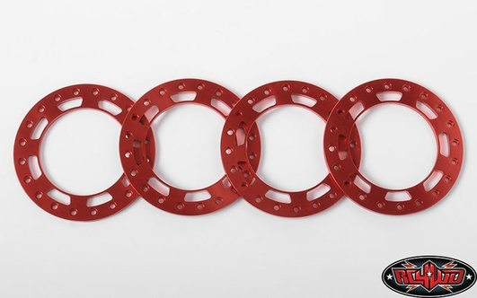 Replacement Beadlock Rings for TRO 1.7 Wheels (Red)