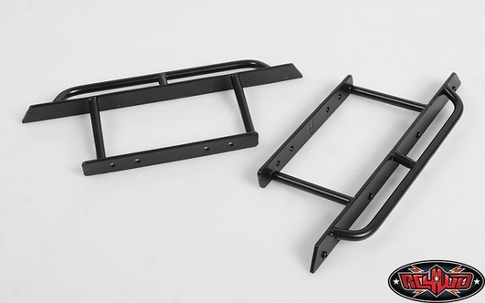 Rock Hard 4x4 Rocker Sliders Powder Coated Black