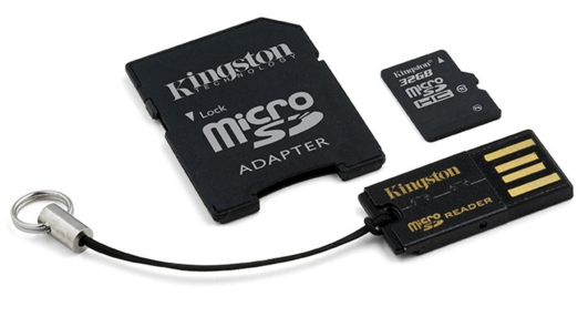 Secure Digital Kingston microSDHC 32GB, Class 10, Mobility-Kit Micro SD card