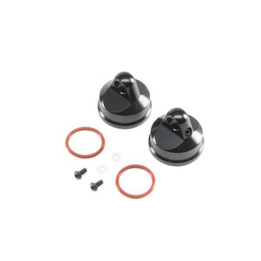 Shock Cap, Aluminum, Black (2): LST/2, 3XL-E