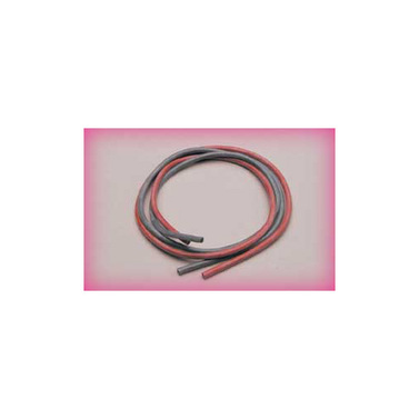 Silikonkabel 2,6 qmm1m, rot/sw, 13 AWG