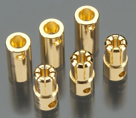 Solid High Power 6.5mm Gold Connector (3 sets)