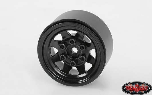 Stamped Steel 1.0 Stock Beadlock Wheels (Black)